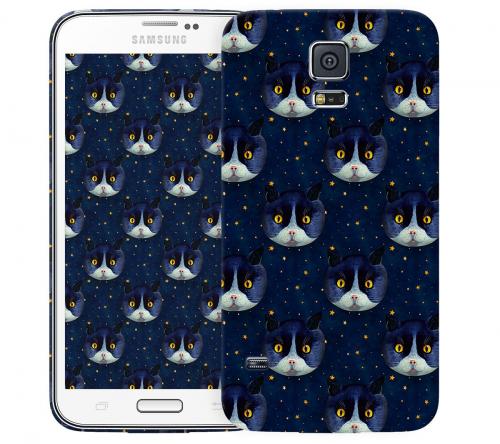 Чехол «Midnight Cat» для Samsung Galaxy S5