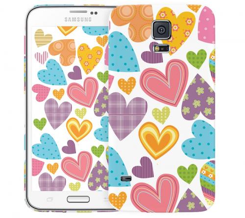 Чехол «Сердечки» для Samsung Galaxy S5