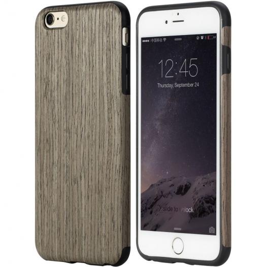 Деревянная накладка Rock Origin Series (Grained) для Apple iPhone 6/6s (4.7