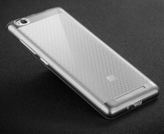 Тонкий прозрачный силиконовый чехол Msvii для Xiaomi Redmi 3 с заглушкой +стекло