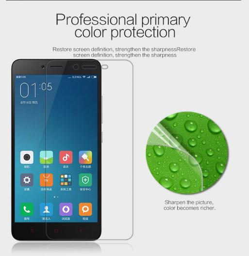 Защитная пленка Nillkin Crystal для Xiaomi Redmi Note 2 / Redmi Note 2 Prime