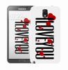 Чехол «I Love You» для Samsung Galaxy Note 3 N9000/N9002