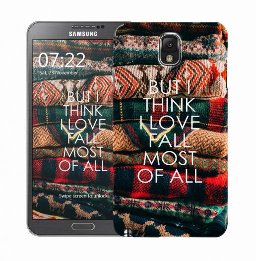 Чехол «Love fall» для Samsung Galaxy Note 3 N9000/N9002
