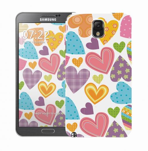 Чехол «Сердечки» для Samsung Galaxy Note 3 N9000/N9002