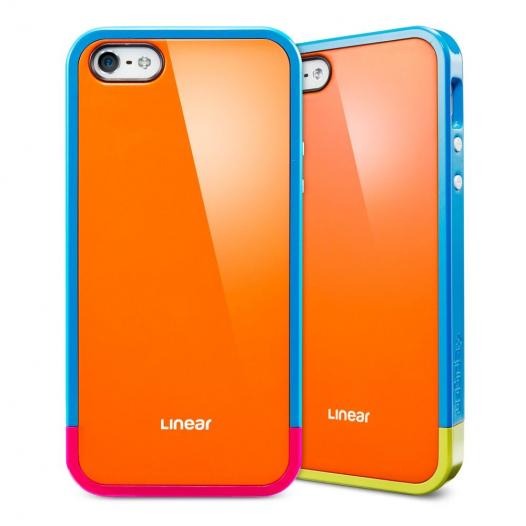 Чехол SGP Linear Pops Series для Apple iPhone 5/5S (+ пленка и наклейка на кнопку