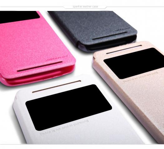 Кожаный чехол (книжка) Nillkin Sparkle Series для HTC One / E8