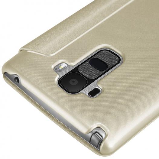 Кожаный чехол (книжка) Nillkin Sparkle Series для LG H540F G4 Stylus Dual
