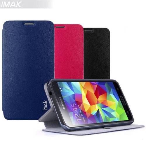 Кожаный чехол (книжка) IMAK Fun Series для Samsung G900 Galaxy S5