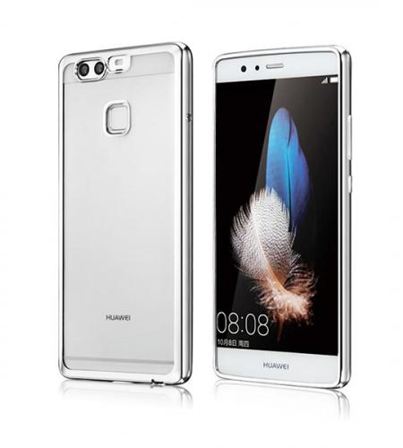 Прозрачный силиконовый чехол для Huawei P9 с глянцевой окантовкой