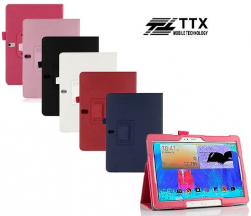 Кожаный чехол-книжка TTX с функцией подставки для Samsung Galaxy Note 10.1 (2014)