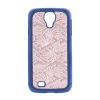 "Пластиковая накладка с узором ""Павлиний хвост"" для Samsung i9500 Galaxy S4"