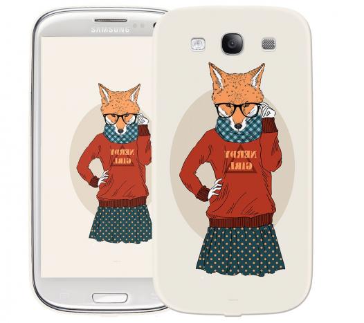 Чехол «Nerdy girl» для Samsung Galaxy s3