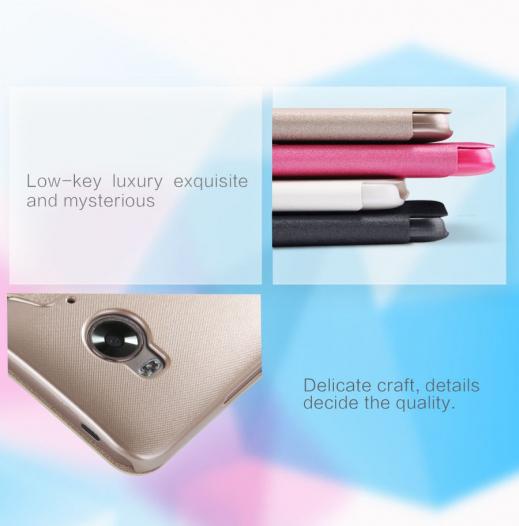 Кожаный чехол (книжка) Nillkin Sparkle Series для HTC One / M9e