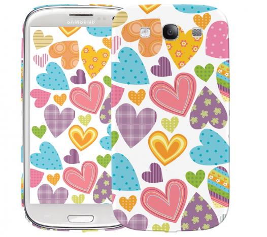 Чехол «Сердечки» для Samsung Galaxy s3