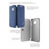Кожаный чехол (книжка) IMAK Fun Series для Samsung G925F Galaxy S6 Edge