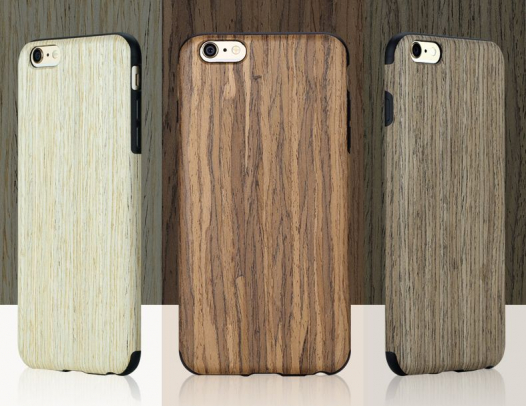 Деревянная накладка Rock Origin Series (Grained) для Apple iPhone 6/6s plus (5.5