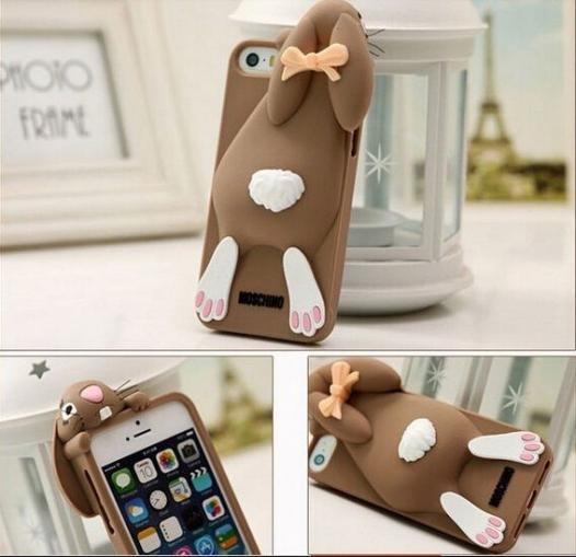 Силиконовый чехол 3D Moschino для Apple iPhone 6/6s (4.7