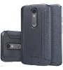 Кожаный чехол (книжка) Nillkin Sparkle Series для Motorola Moto X Force (XT1580)
