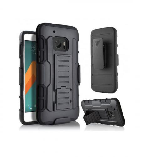 Антиударный чехол с тройной броней PANZER HTC 10 / 10 Lifestyle с креплением на пояс и подставкой