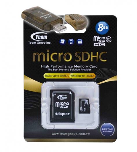 Карта памяти Team microSDHC 8 GB Card Class 10