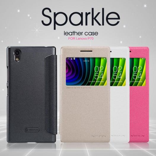 Кожаный чехол (книжка) Nillkin Sparkle Series для Lenovo P70