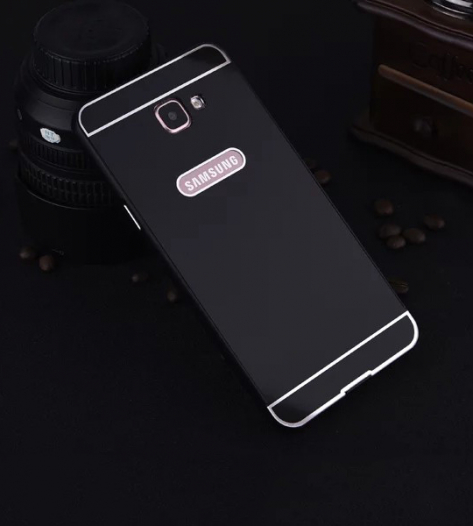 Металлический бампер с пластиковой вставкой для Samsung A710F Galaxy A7 (2016)