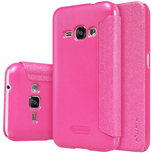 Кожаный чехол (книжка) Nillkin Sparkle Series для Samsung J105H Galaxy J1 Mini / Galaxy J1 Nxt