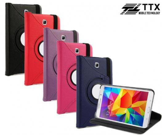 Кожаный чехол-книжка TTX (360 градусов) для Samsung Galaxy Tab 4 7.0