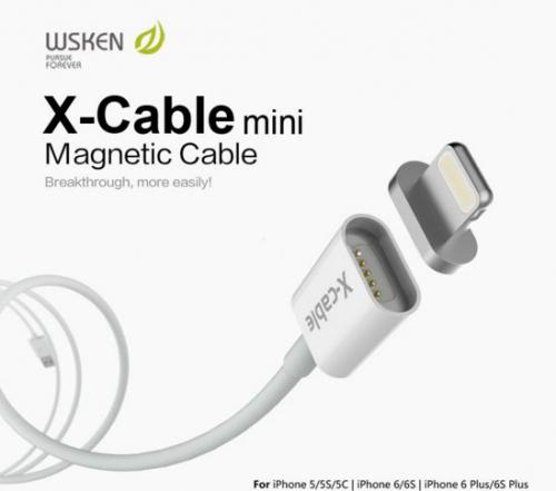 Магнитный кабель WSKEN X-cable Lightning для Apple iPhone 6/6 plus/5/5S/5C/SE (mini)