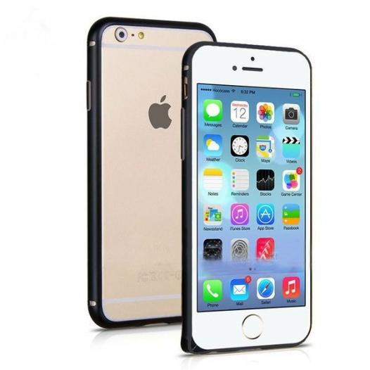 Алюминиевый бампер со стразами (защелка) для Apple iPhone 6/6s (4.7