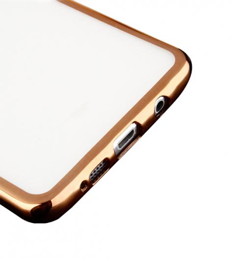 TPU чехол с золотой каймой для Samsung A310F Galaxy A3 (2016)
