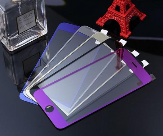Защитное цветное стекло Tempered Glass (На обе стороны) для Apple iPhone 6/6s (4.7