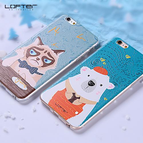 TPU чехол LOFTER Animals Print Series для Apple Iphone 7