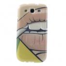 "TPU чехол IMD Print ""Sexy Plump Lips"" для Samsung i9300 Galaxy S3"