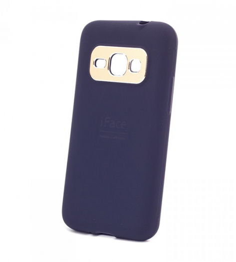TPU чехол с металлической вставкой iFace для Samsung J120F Galaxy J1 (2016)