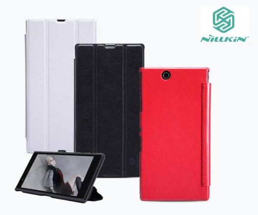 Кожаный чехол (книжка) Nillkin для Sony Xperia Z ULTRA (+ пленка)