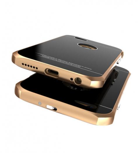 Металлический бампер с подставкой Luphie с акриловой вставкой для Apple iPhone 6/6s 4.7