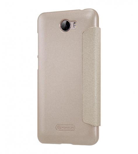Кожаный чехол (книжка) Nillkin Sparkle Series для Huawei Y5 II / Honor Play 5