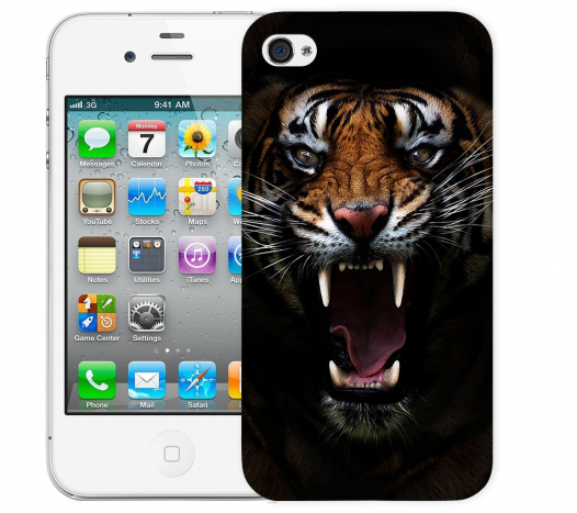 Чехол «Супер тигр» для Apple iPhone 4/4s