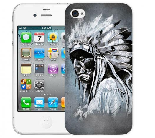 Чехол «Индеец» для Apple iPhone 4/4s