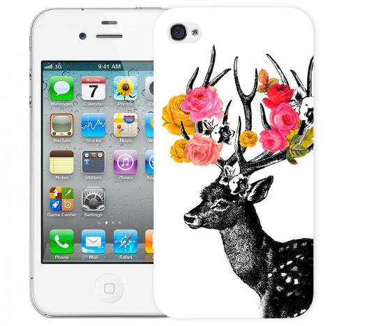 Чехол «Олень Весна» для Apple iPhone 4/4s