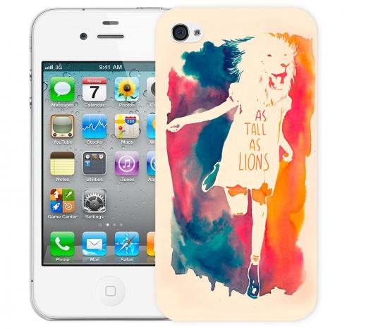 Чехол «As tall as lion» для Apple iPhone 4/4s