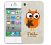 Чехол «Fall owl» для Apple iPhone 4/4s
