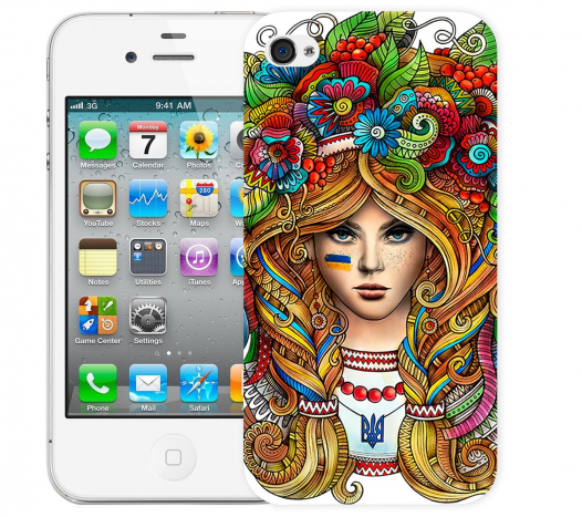 Чехол «Украинка» для Apple iPhone 4/4s