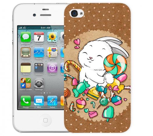Чехол «Зайка» для Apple iPhone 4/4s