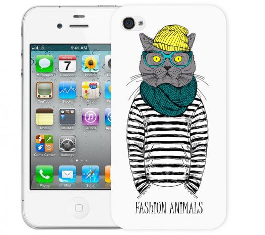 Чехол «Fashion Cat» для Apple iPhone 4/4s