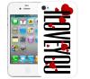Чехол «I Love You» для Apple iPhone 4/4s