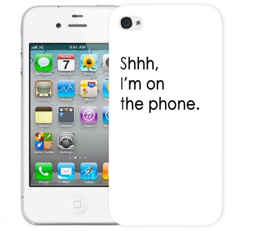 Чехол «Shhh...» для Apple iPhone 4/4s