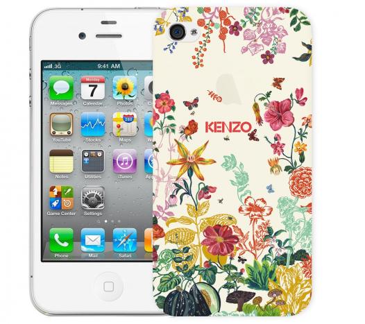 Чехол «Kenzo Flowers» для Apple iPhone 4/4s