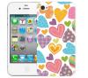 Чехол «Сердечки» для Apple iPhone 4/4s